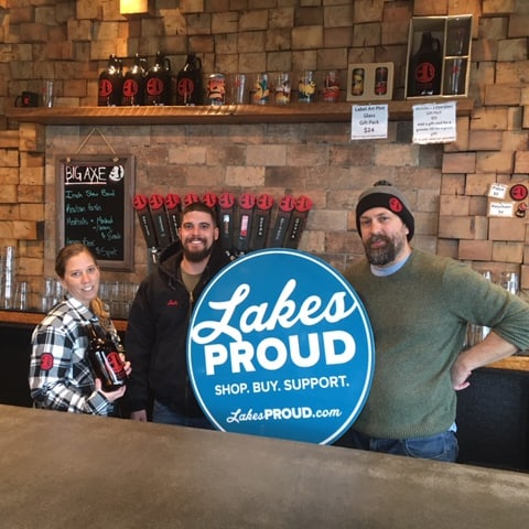Lakes Proud Business Big Axe Brewing Company