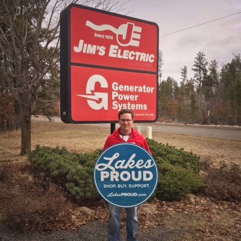 Lakes Proud Business Jim's Electric