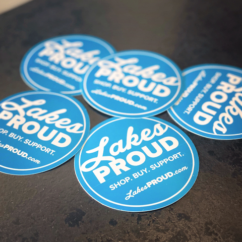Lakes Proud Stickers