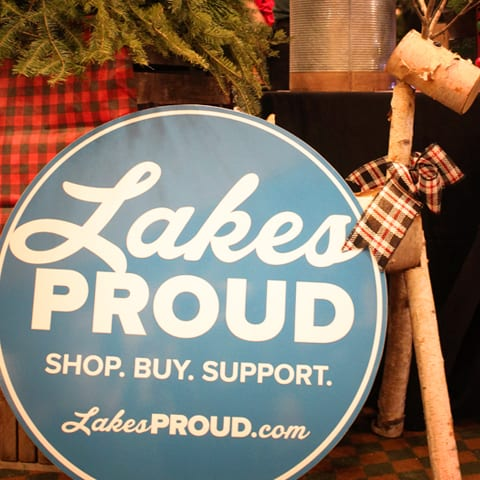 Lakes Proud Sign Christmas