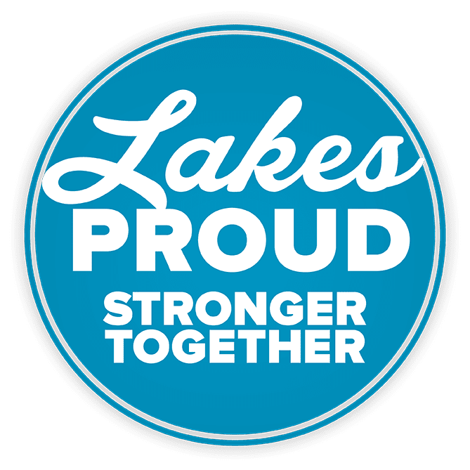 Lakes Proud Stronger Together Logo