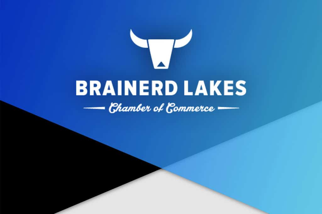 Brainerd Lakes Chamber Logo and Blue Background