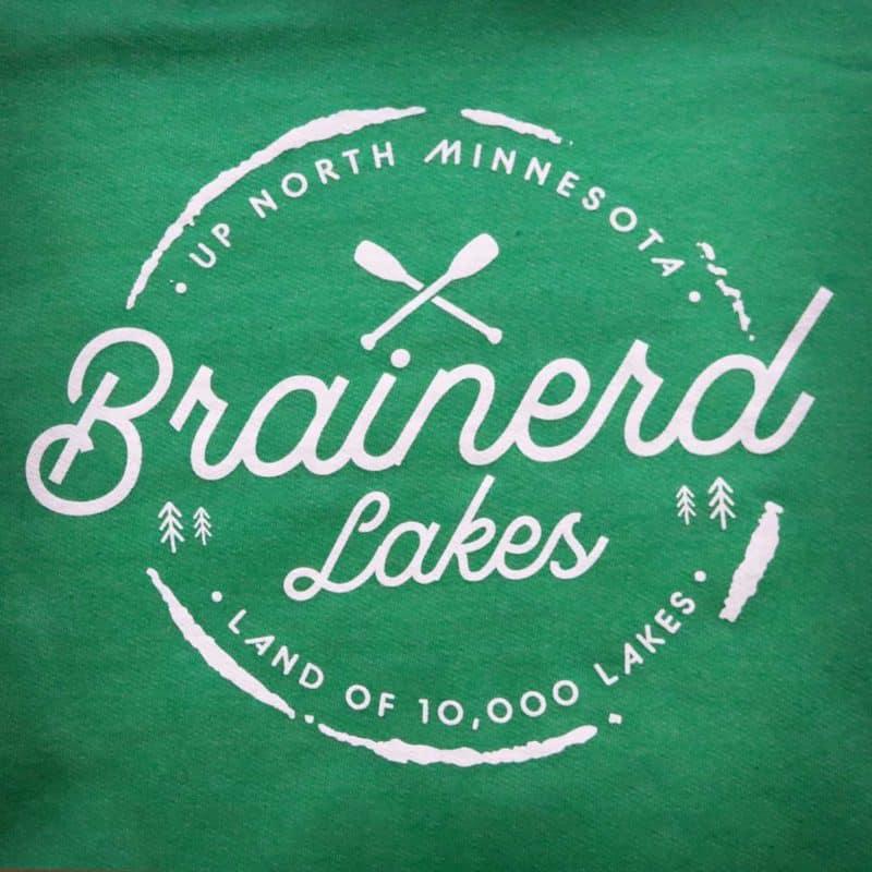 Up North Brainerd Lakes Hoodie Green