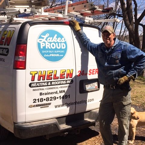 Lakes Proud Business Thelen Heating and Roofing