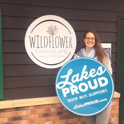 Lakes Proud Business Wildflower Chocolate