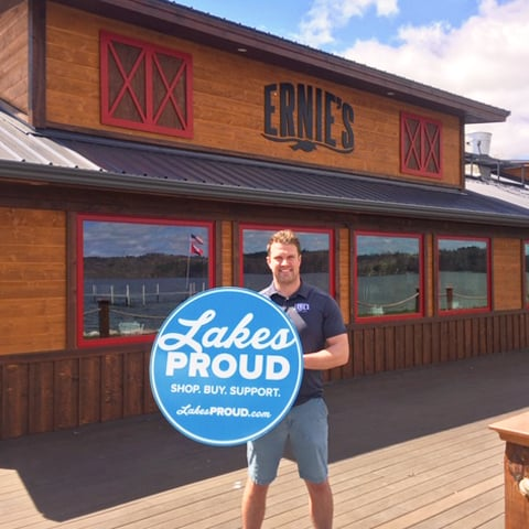 Lakes Proud Business Ernie's on Gull