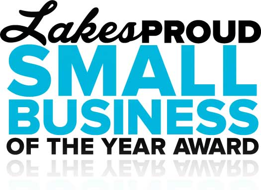 Lakes Proud Small Business of the Year Award Logo