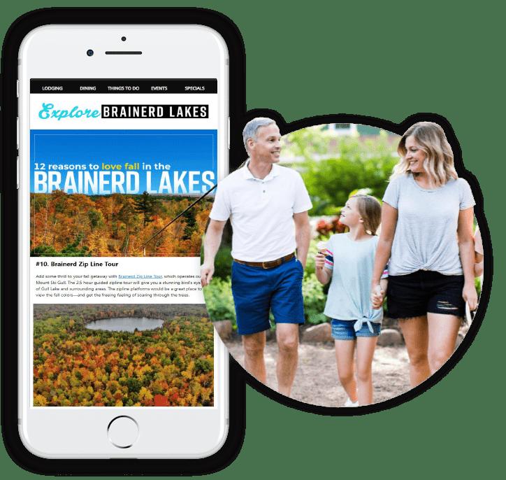 Explore Brainerd Lakes Email Mockup