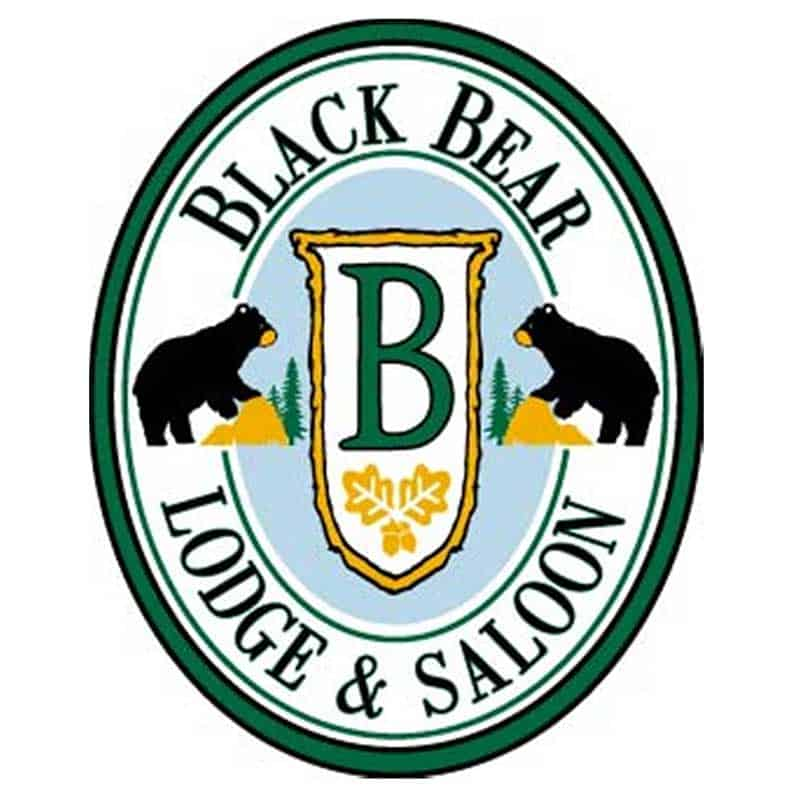Black Bear Lodge and Saloon Logo