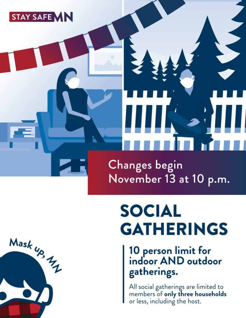 Stay Safe Graphic Social Gatherings