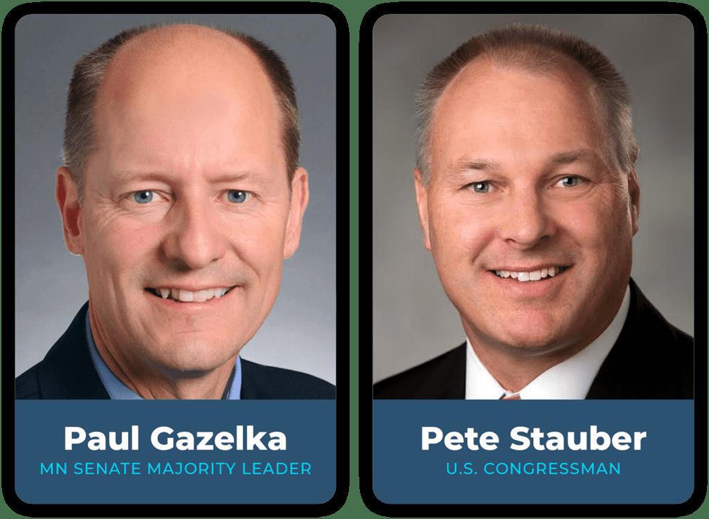 Pete Stauber and Paul Gazelka