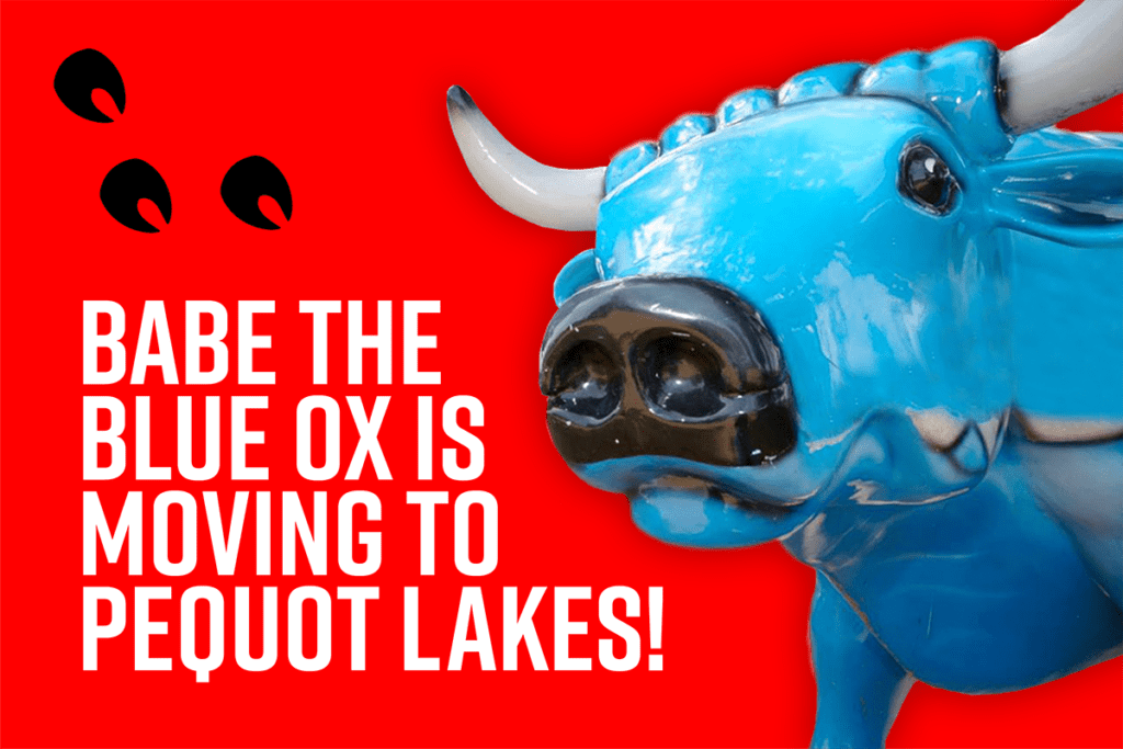 Babe the Blue Ox Moves to Pequot Lakes