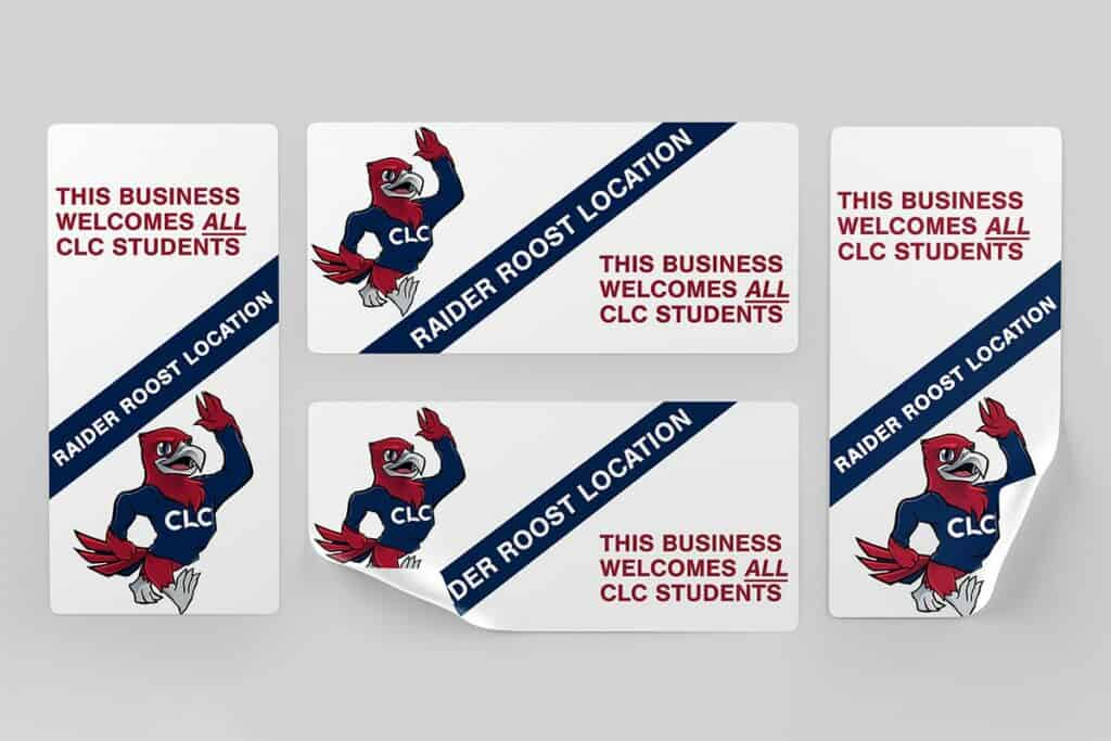 Raider Roost Business Stickers