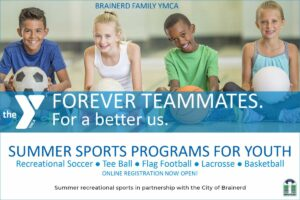 SWELL ad YMCA summer youth sports