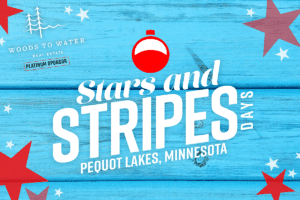 Blue Background with Stars and Stripes Days logo and red stars