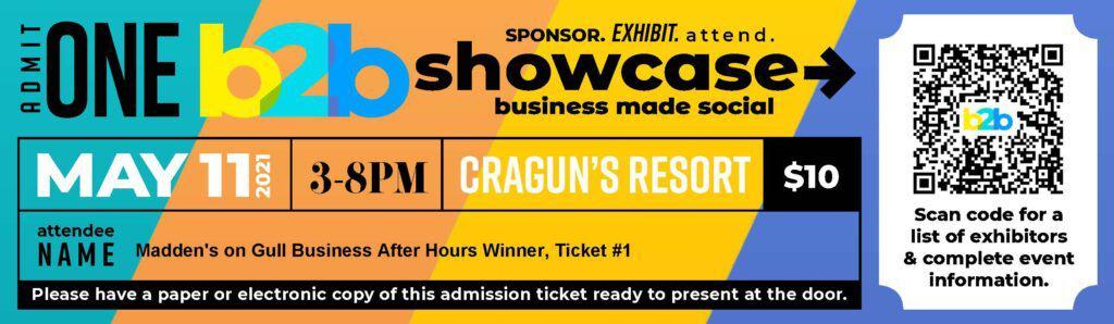 b2b Showcase Admission Ticket Winning Ticket #1