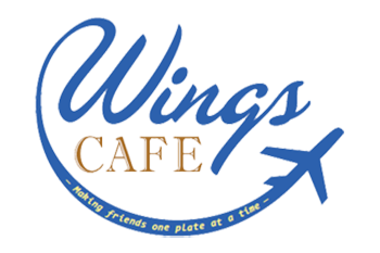 Wings Airport Cafe Logo Blue