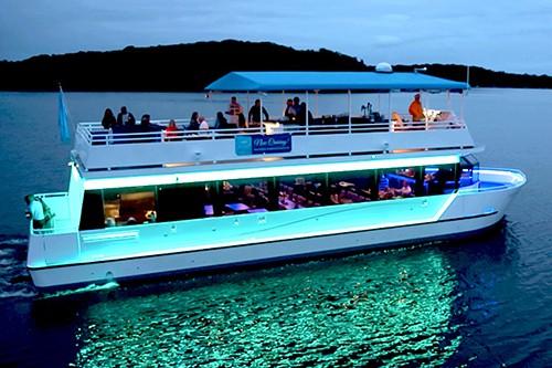 Gull Lake Cruises Party Yacht on Gull Lake at Night