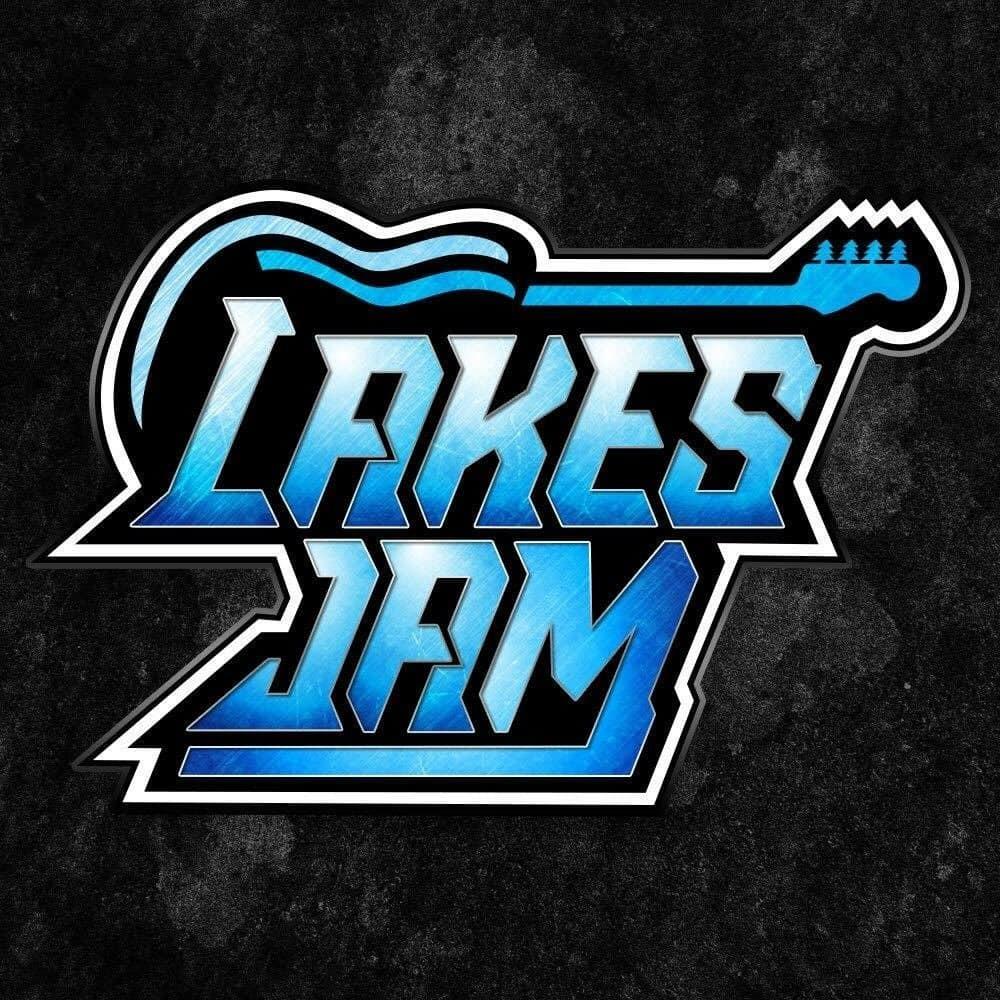 Lakes Jam Logo on Black Background