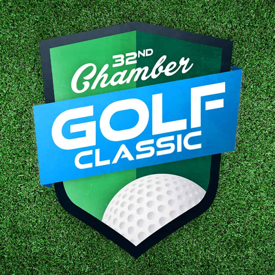 Chamber Golf Classic Logo Full Color on Grass Background