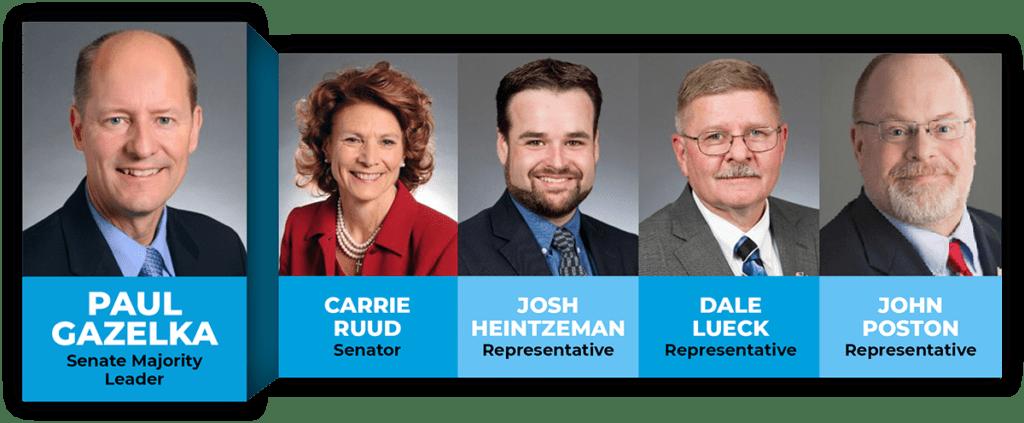 Headshots of Brainerd Lakes Area Legislators