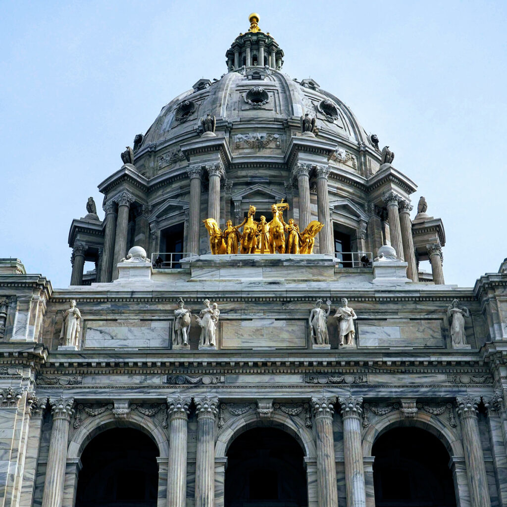 Minnesota State Capitol Building Square Photo
