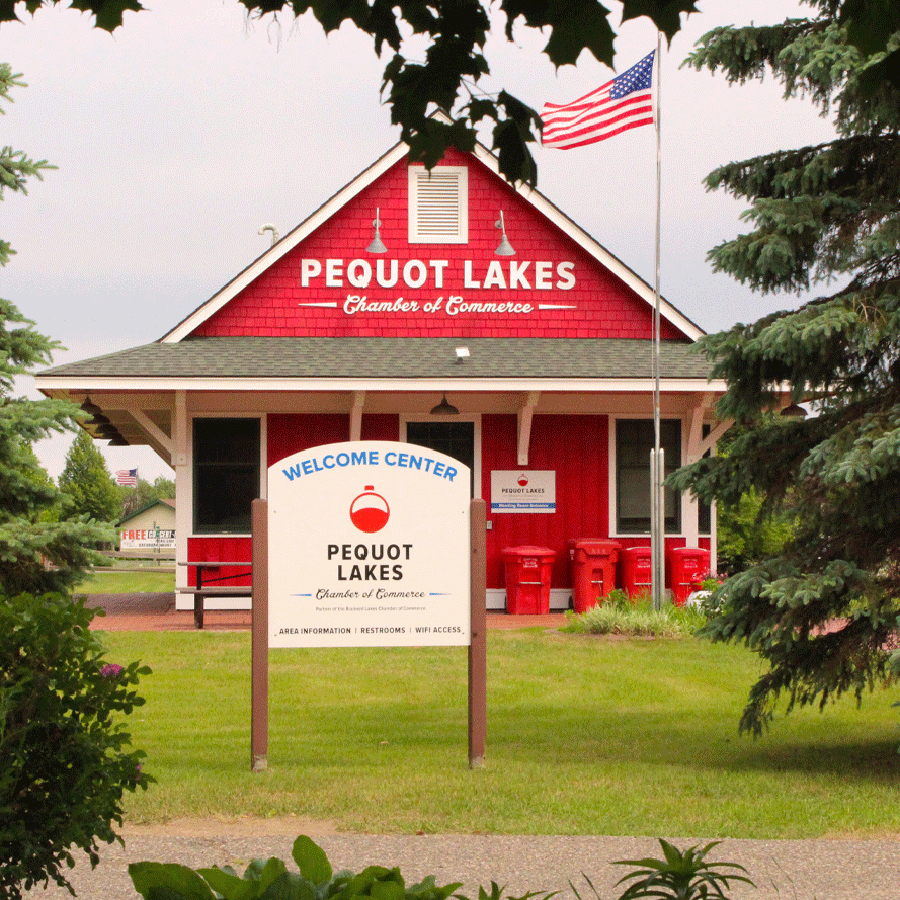 Pequot Lakes Chamber Building Square