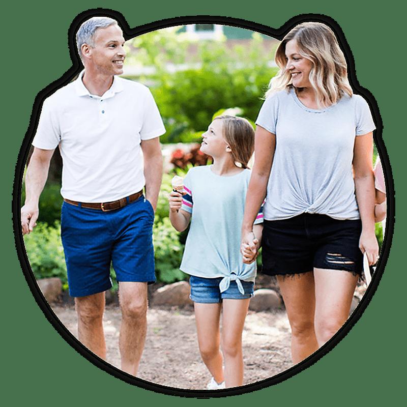 Family on Walk Square Photo to Promote Realtor Membership Sales
