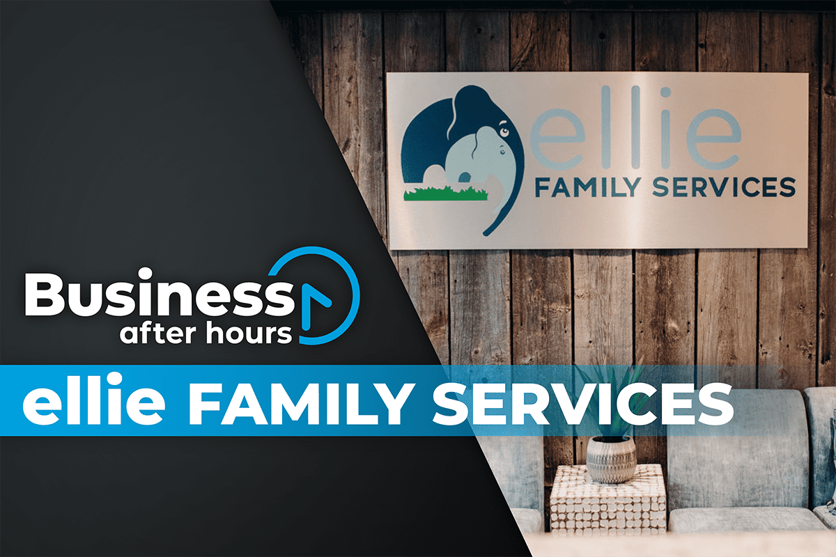 Business After Hours Graphic for Ellie Family Services