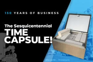 Sesquicentennial Celebration Time Capsule with Heading