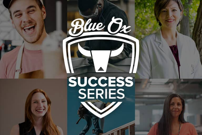 Success Series Logo on top of collage of photos of people smiling