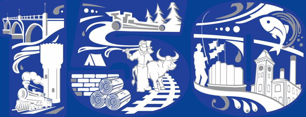Brainerd's 150th Anniversary Logo
