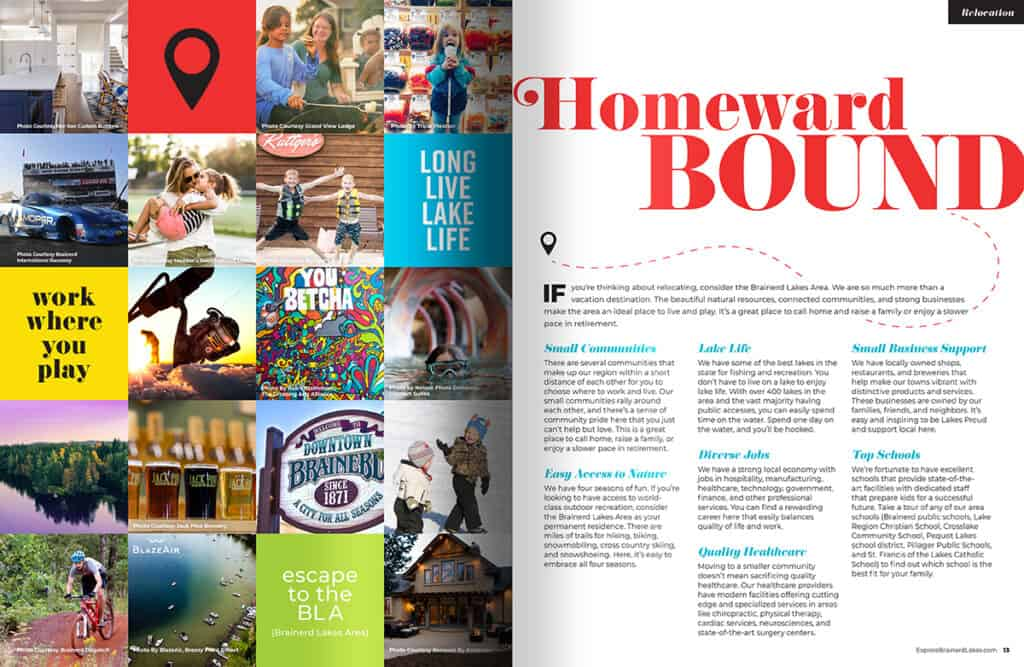 Visitor Guide Open Pages at Homeward Bound Spread